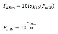 dBm-to-Watts-equation